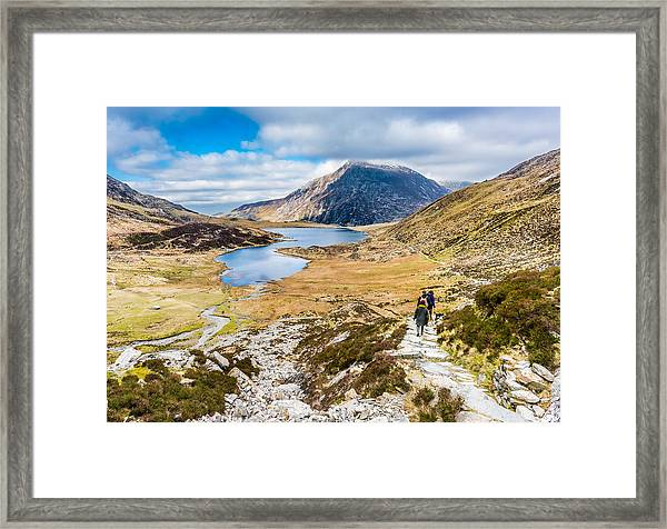 Framed Print featuring the photograph The Hike Back Down by Nick Bywater