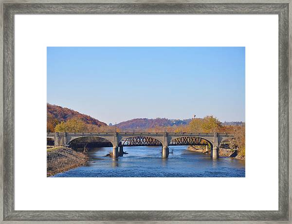 The Hill To Hill Bridge - Bethlehem Pa Framed Print