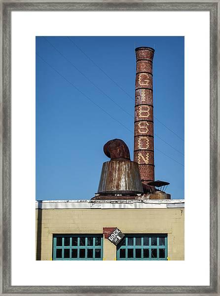 The Historic Gibson Smokestack Framed Print