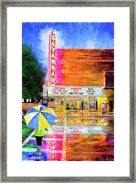 The Historic Savannah Theatre Framed Print