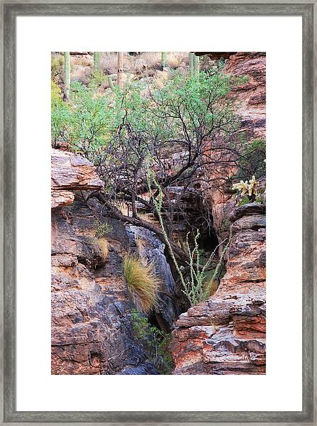 The Hole - Mount Lemmon Framed Print