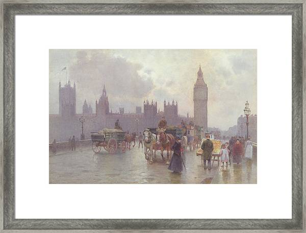 The Houses Of Parliament From Westminster Bridge Framed Print