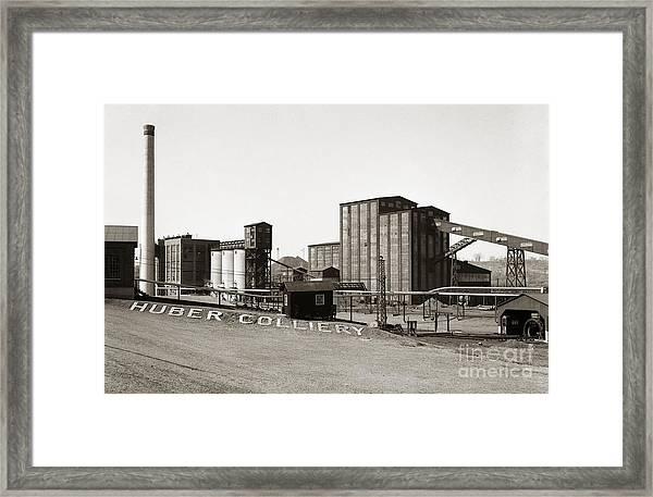 The Huber Colliery Ashley Pennsylvania 1953 Framed Print