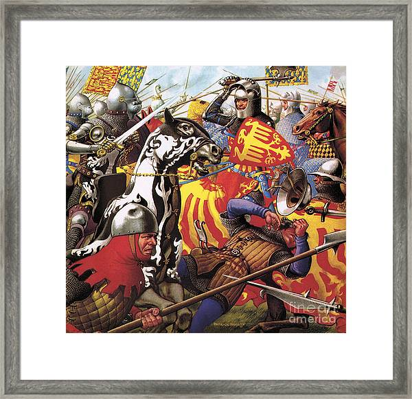The Hundred Years War  The Struggle For A Crown Framed Print