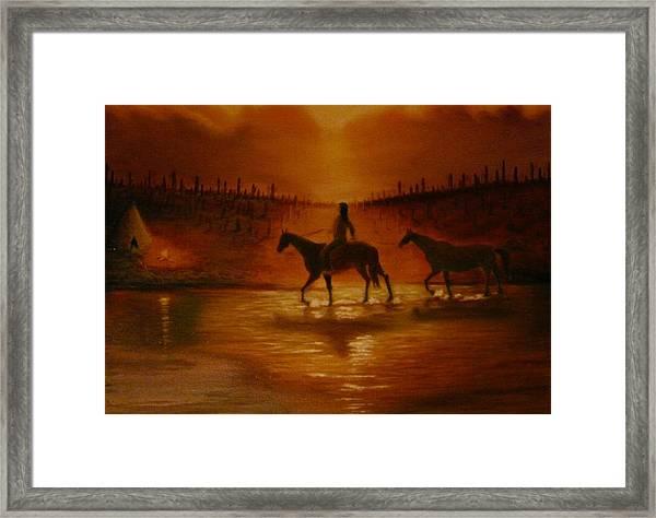 The Hunter Returns Framed Print