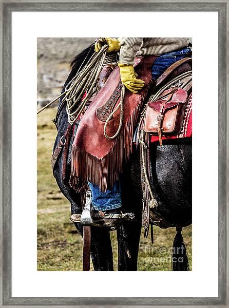 The Idaho Cowboy Western Art By Kaylyn Franks Framed Print