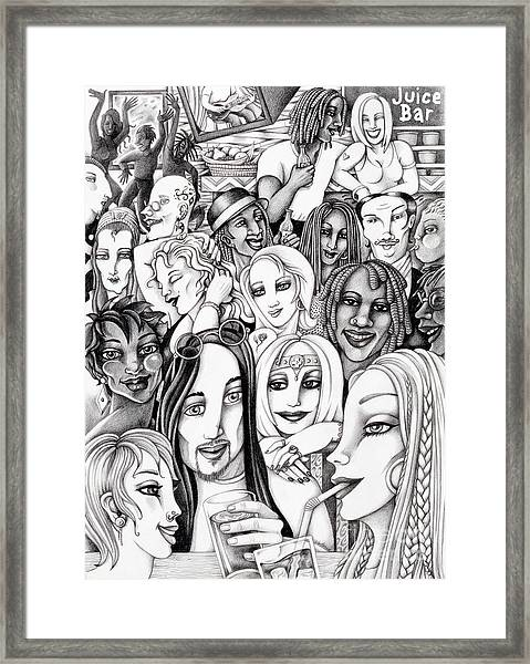 The In Crowd Framed Print