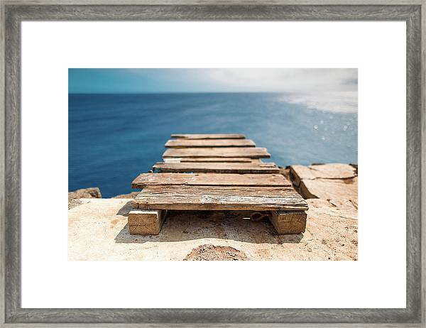 Framed Print featuring the photograph The Infinite Blue by Break The Silhouette