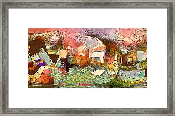 Space Geometry #14 Or The Inner Content Framed Print