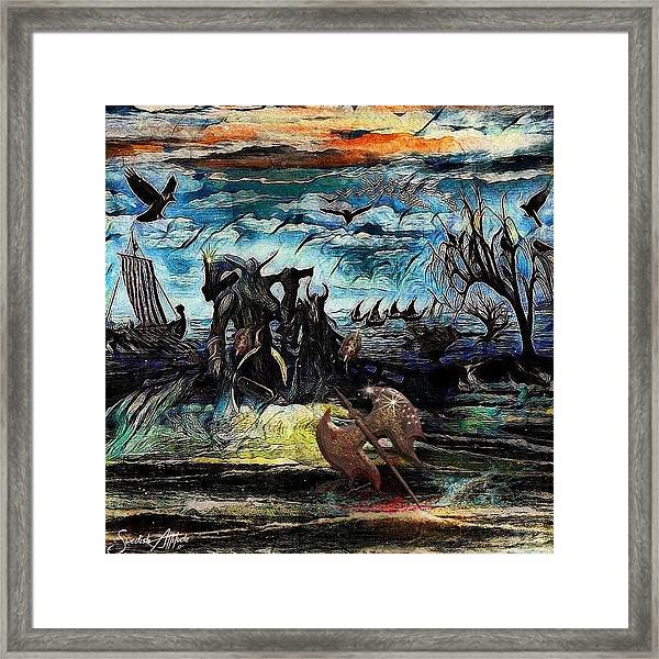 The Insurperable Guard Of The Land Of Danes And Brave Vikings Framed Print