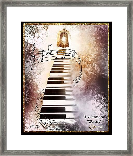 The Invitation- Worship Framed Print