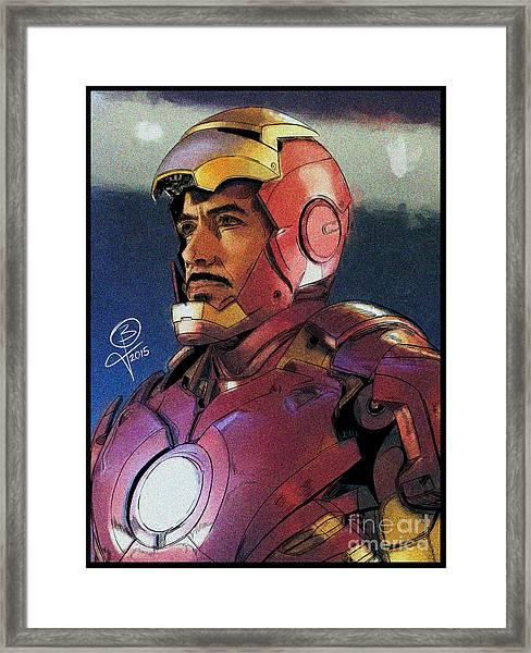 The Iron Avenger Framed Print by Joseph Burke