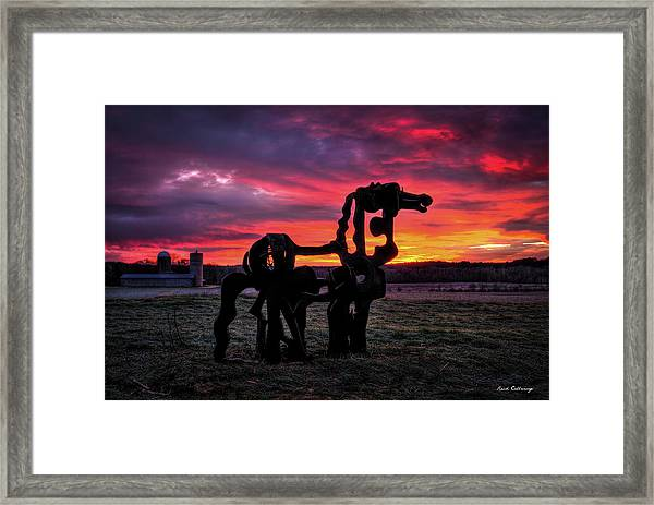 The Iron Horse Sun Up Art Framed Print