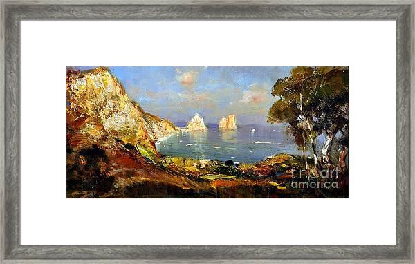 The Island Of Capri And The Faraglioni Framed Print
