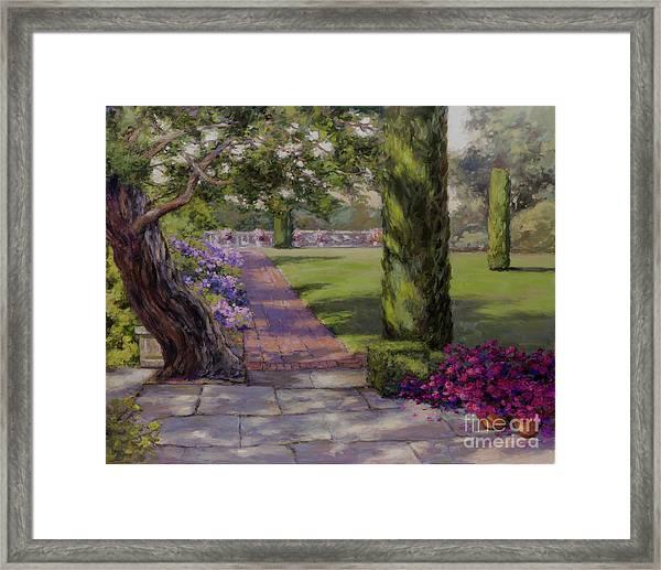 The Italian Garden Framed Print
