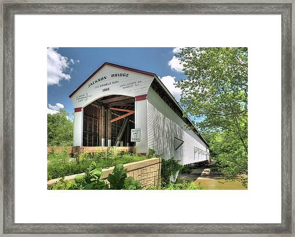 The Jackson Covered Bridge Framed Print