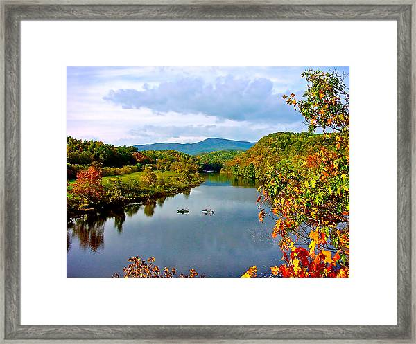 The James River Early Fall Framed Print