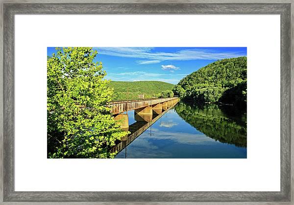 The James River Trestle Bridge, Va Framed Print