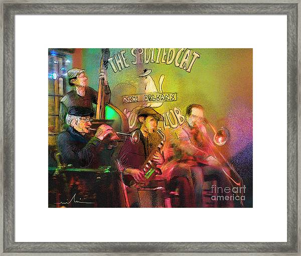 The Jazz Vipers In New Orleans 02 Framed Print