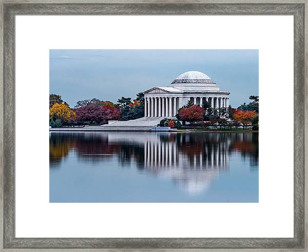The Jefferson In Baby Blue Framed Print