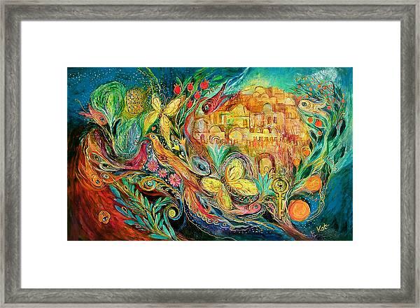 The Jerusalem Key Framed Print by Elena Kotliarker