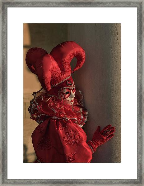 The Jester In Red Framed Print