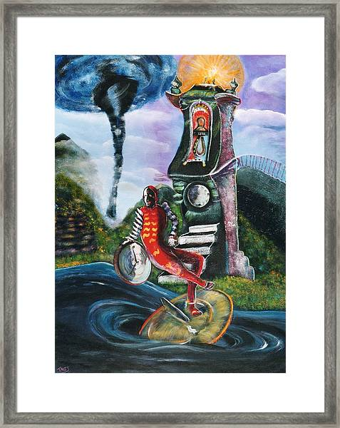 The Jester Of Time Framed Print