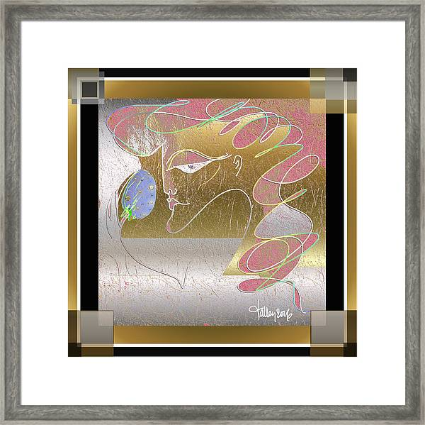 Framed Print featuring the painting The Jeweled Egg by Larry Talley