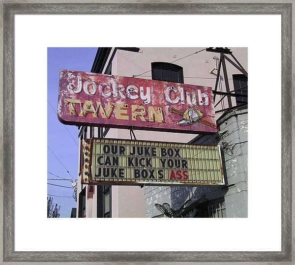 The Jockey Club Framed Print