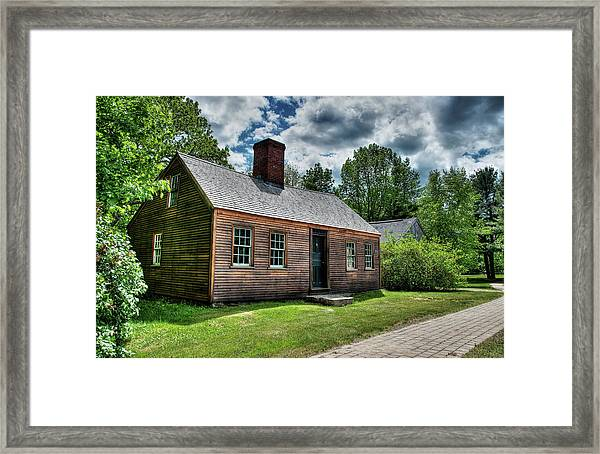 The John Wells House In Wells Maine Framed Print