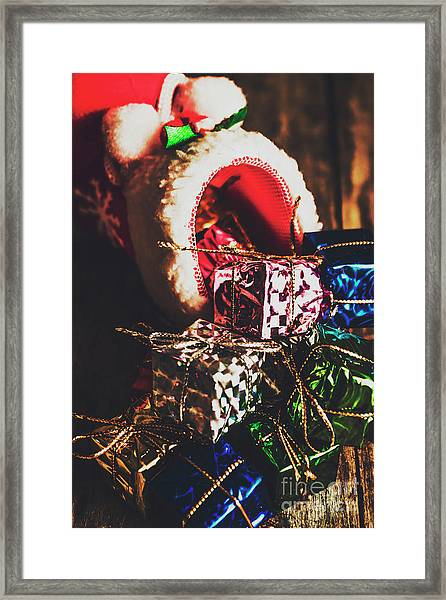 The Joy Of Giving On Christmas Framed Print