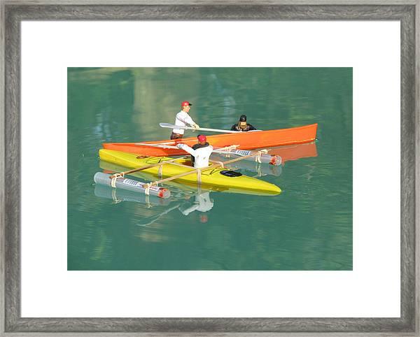 The Kayak Team 12 Framed Print