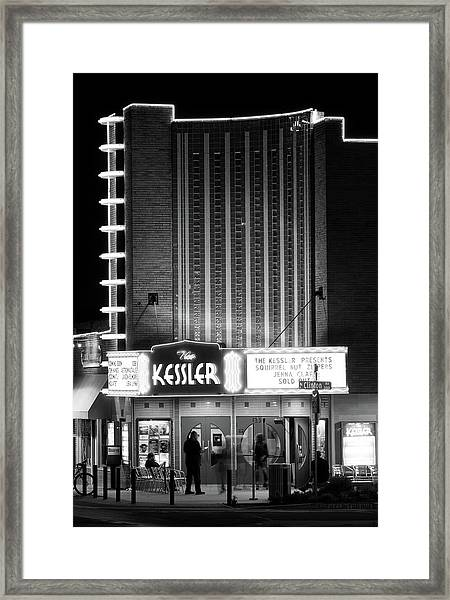 The Kessler V2 091516 Bw Framed Print