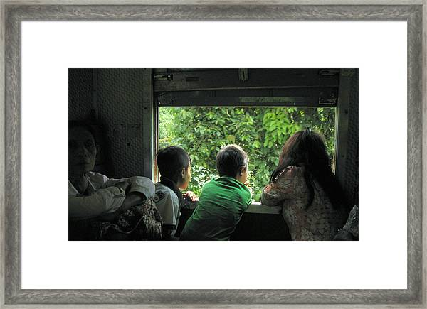 The Kid On The Train_01 Framed Print