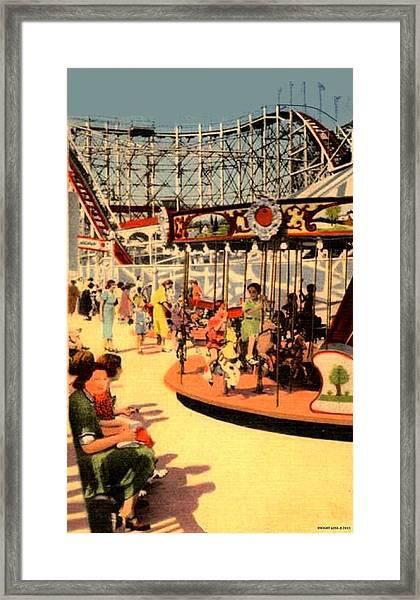 The Kiddie Park Carousel, Coney Island, 1939 Framed Print