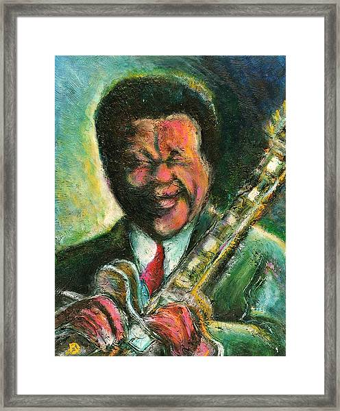 The King And His Guitar Framed Print