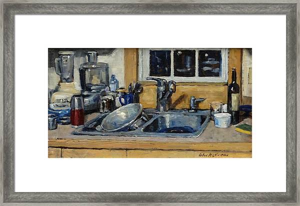 The Kitchen Sink Framed Print