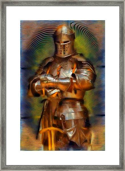 The Knight In Shining Armor Framed Print