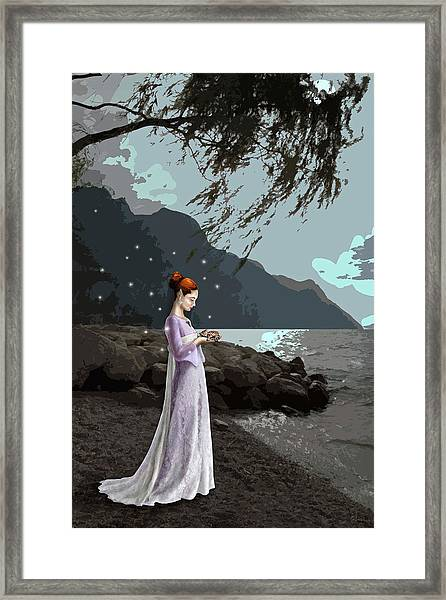 The Lady And The Kitty Framed Print