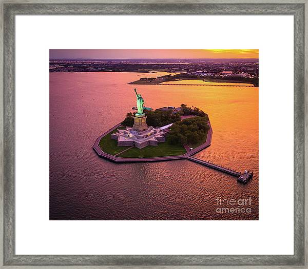 The Lady On The Island Framed Print