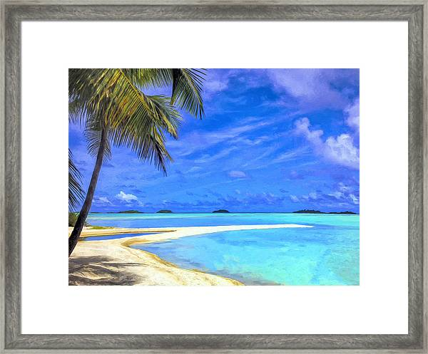 The Lagoon At Rangiroa Framed Print