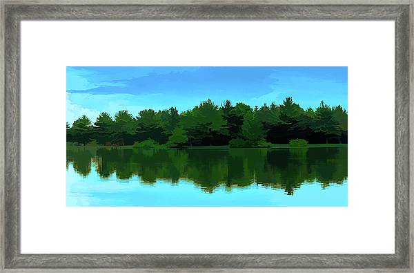The Lake - Impressionism Framed Print