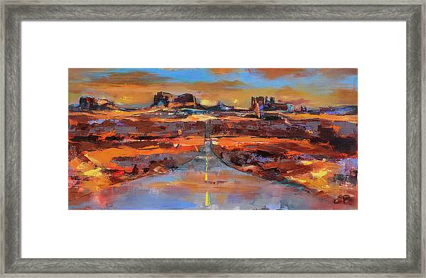 Framed Print featuring the painting The Land Of Rock Towers by Elise Palmigiani