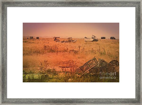 The Landscape Of Dungeness Beach, England 2 Framed Print