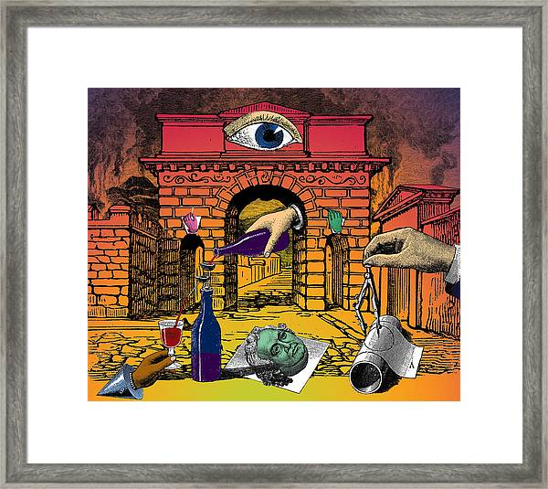 The Last Days Of Herculaneum Framed Print