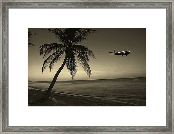The Last Flight Out Framed Print