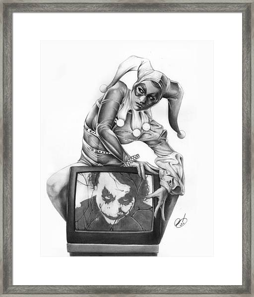 The Last Laugh Framed Print