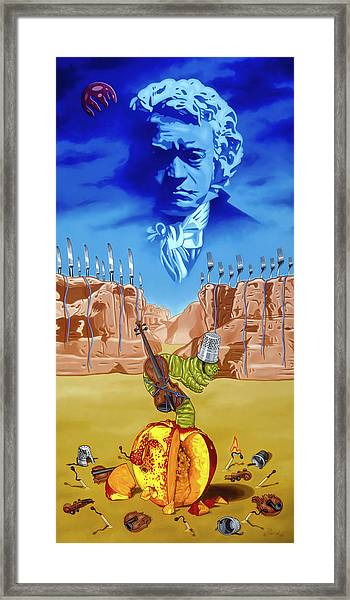 The Last Soldier An Ode To Beethoven Framed Print