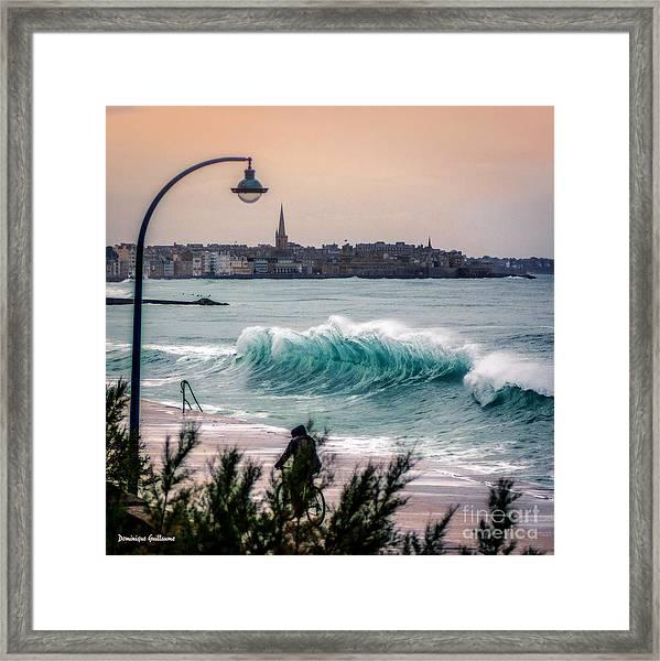 The Last Wave Framed Print