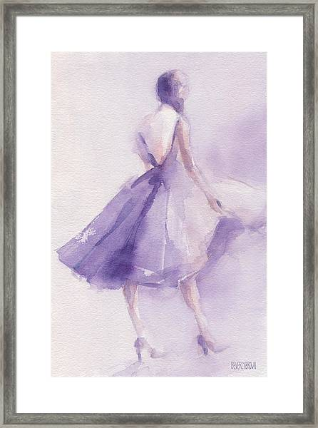 The Lavender Dress Framed Print by Beverly Brown